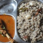 Ulundu Choru Recipe – Ulundhu Saadam Recipe – Urad Dal Rice in Pressure Cooker