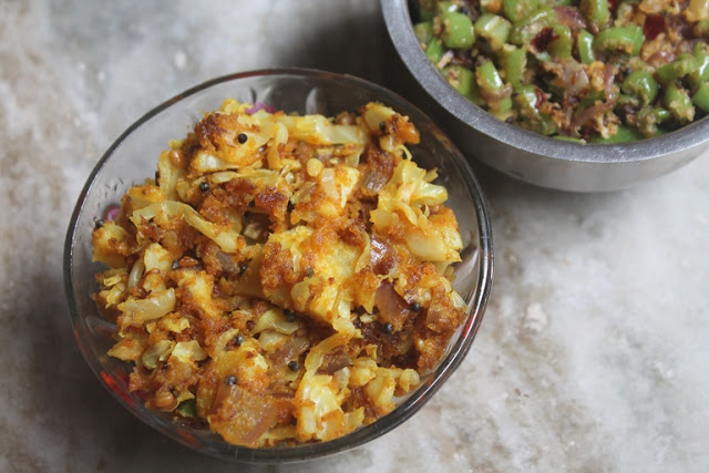 Cabbage Besan Sabzi Recipe – Cabbage Gram Flour Stir Fry Recipe