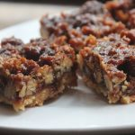 Pecan Shortbread Squares Recipe – Eggless Pecan Bars Recipe
