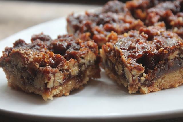 Pecan Shortbread Squares Recipe – Eggless Pecan Bars Recipe