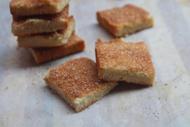 Eggless Cinnamon Sugar Shortbread Bars Recipe
