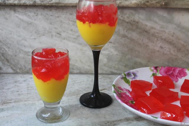 Vanilla Custard with Jelly Recipe – Easy Desert