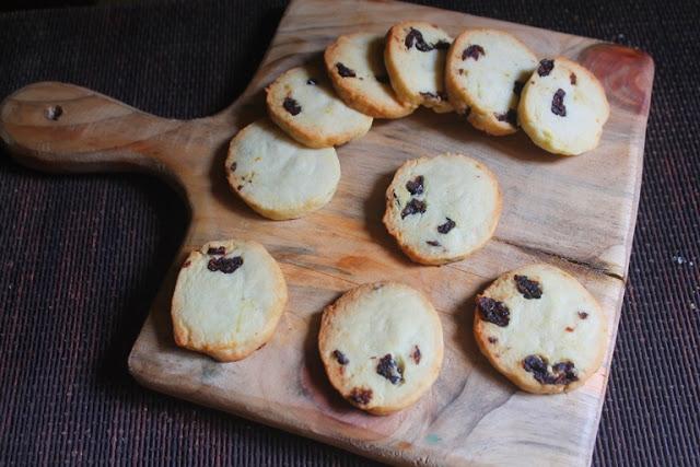 Eggless Cranberry & Orange Slice & Bake Cookies Recipe