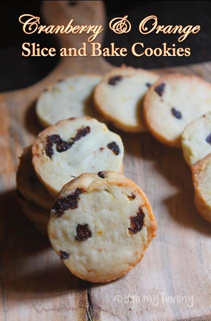 Eggless Cranberry & Orange Slice & Bake Cookies Recipe ...