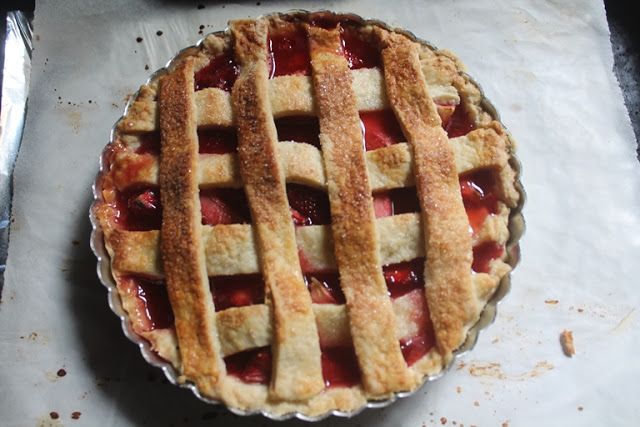 Strawberry Pie Recipe – Strawberry Lattice Pie Recipe