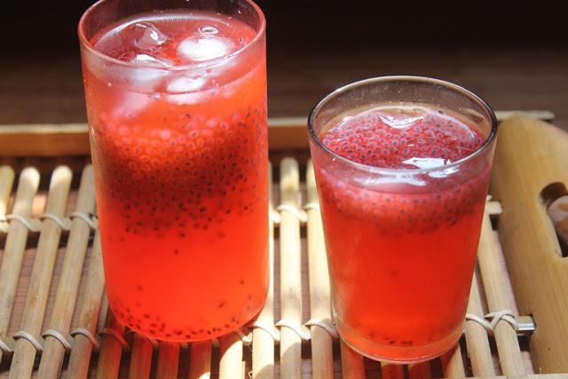 Rose Sabja Lemonade Recipe – Rose Lemon Juice Recipe