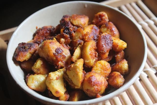 Seppankizhangu Roast Recipe – Arbi Fry Recipe