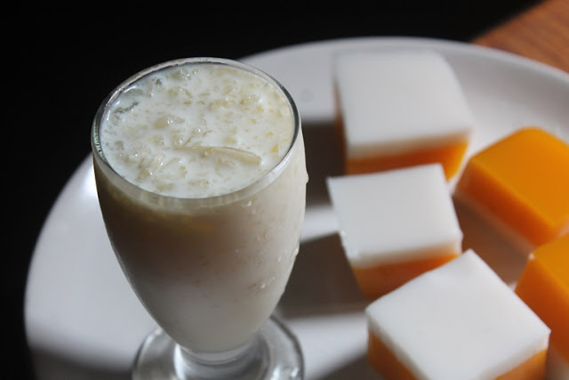 China Grass Milkshake Recipe – Agar Agar Drink Recipe