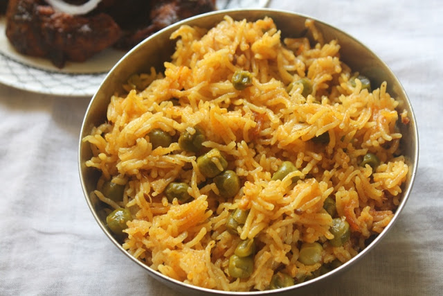 Spicy Peas Pulao Recipe