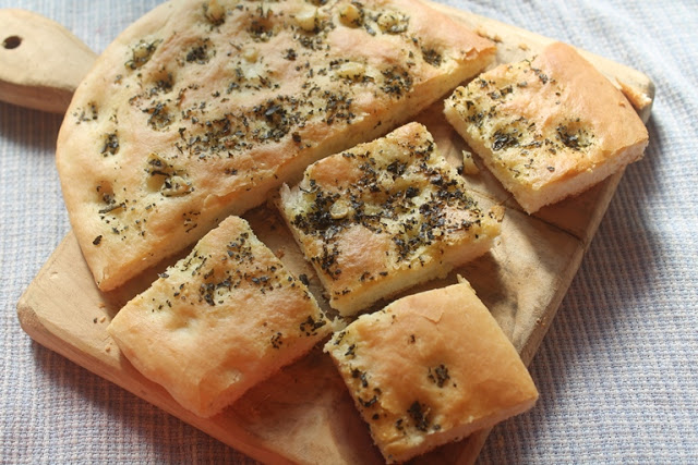 Herb and Garlic Butter Focaccia Bread