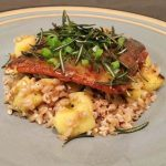 Blue Apron's Meal Delivery Service Review + Tangelo & Honey-Glazed Salmon with Farro, Apple & Crispy Rosemary Recipe