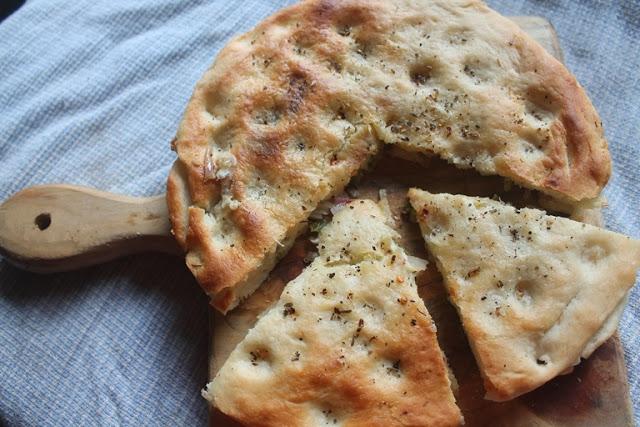 Stuffed Cheese Focaccia Bread Recipe