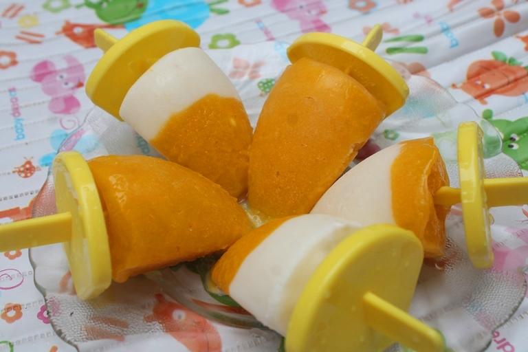Mango Yogurt Popsicles Recipe