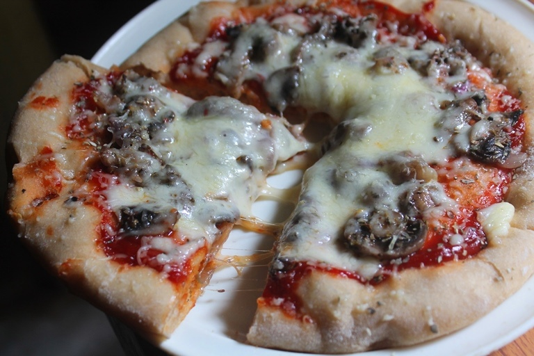 Mushroom Pizza Recipe – Whole Wheat Mushroom Pizza Recipe