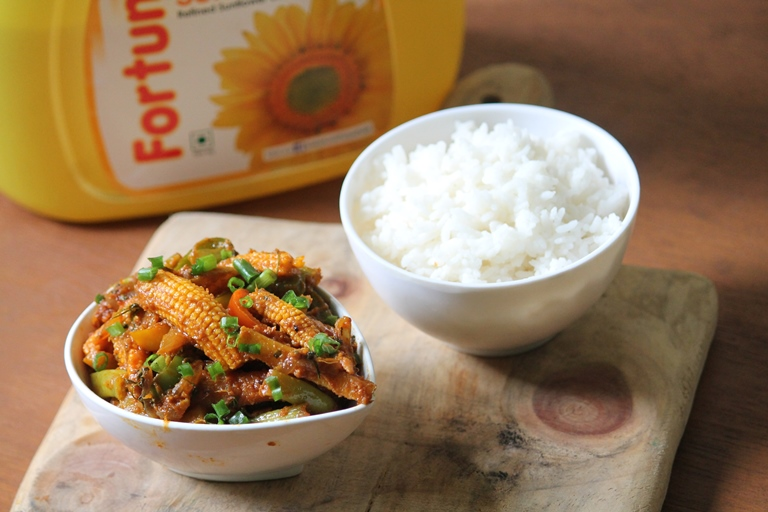 Vegetable Jalfrezi Recipe with Fortune Sunflower Oil