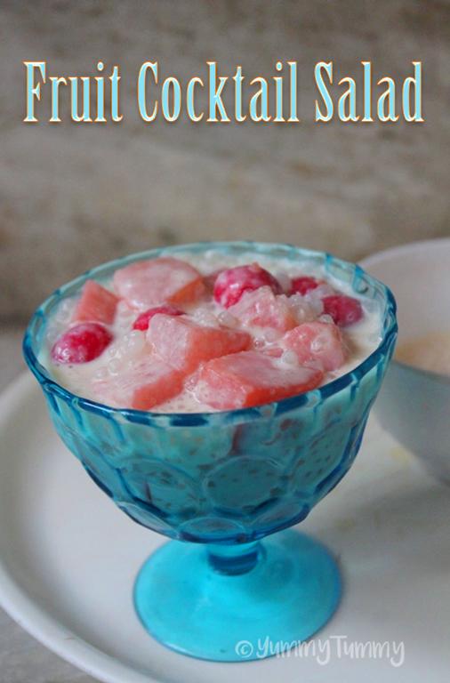 Fruit Cocktail Salad Recipe – Fruit Cocktail & Sago Salad Recipe