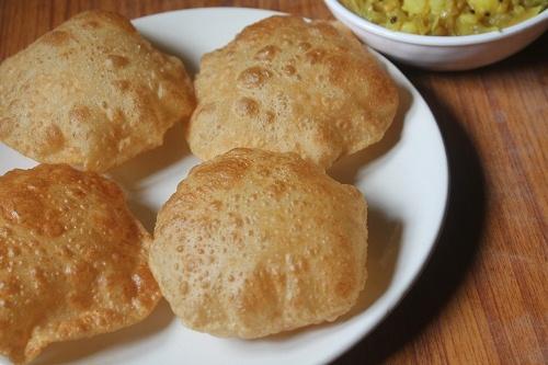 Poori Recipe – Puri Recipe – How to Make Soft Puffy Poori