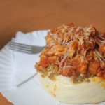 Rolled Chicken Egg Buns Recipe – Stuffed Egg Buns topped with Chicken & Cheese