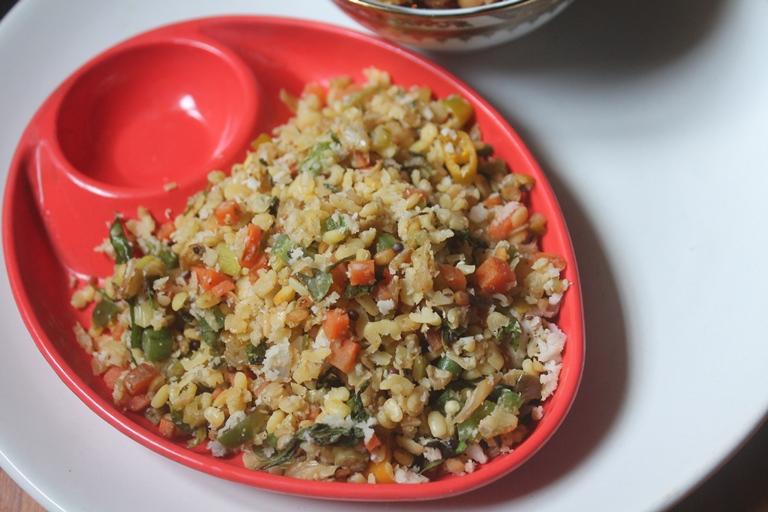 Moong Dal & Veggies Sundal Recipe – Navratri Recipes