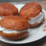 Bakery Style Butter Bun Recipe – Cream Stuffed Doughnuts Recipe