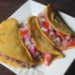 Refried Beans Tacos Recipe – Soft Vegetarian Tacos Recipe