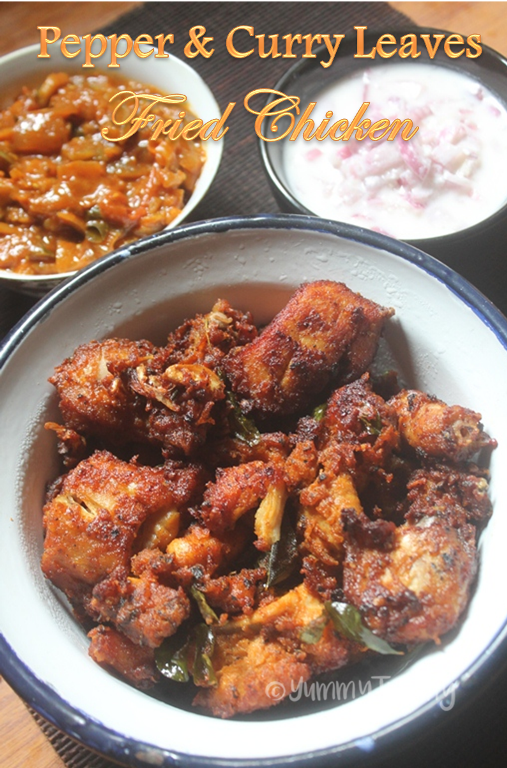 Pepper & Curry Leaves Fried Chicken Recipe - Chicken Fry ...