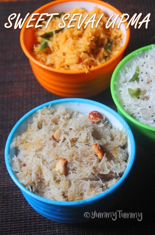 Sweet Idiyappam Recipe - Sweet Sevai Upma Recipe