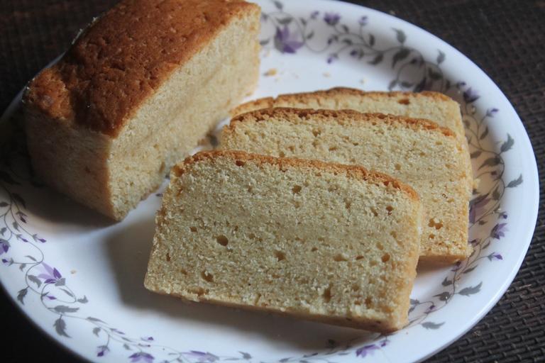 Eggless Ghee Cake Recipe – Clarified Butter Cake Recipe