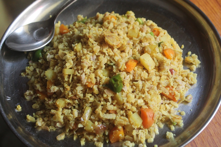 Vegetable Poha Upma Recipe – Veg Poha Recipe