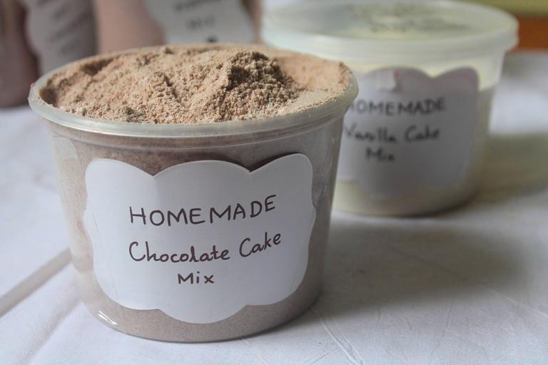 Homemade Chocolate Cake Mix Recipe Edible Christmas Gift Ideas