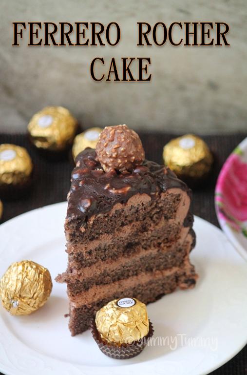 406d1df115b1 Ferrero Rocher Cake Recipe - Chocolate Hazelnut Cake Recipe