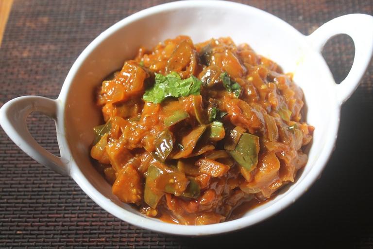 Brinjal Thokku Recipe – Side Dish for Pulao, Chapati & Rice