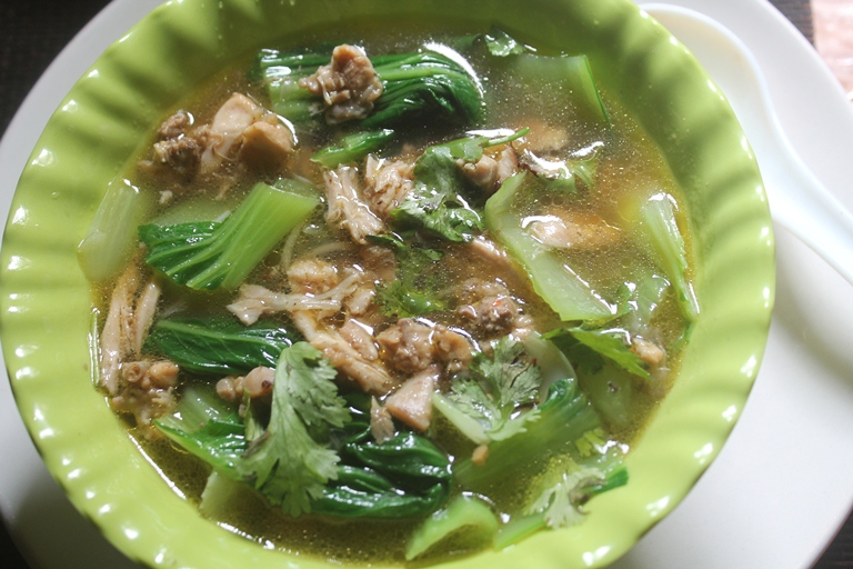 Bok Choy Chicken Noodles Soup Recipe
