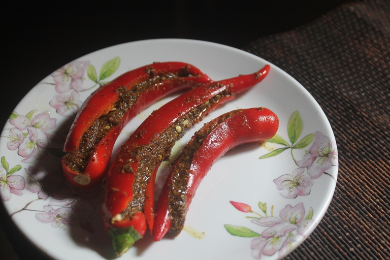 Stuffed Red Chilli Pickle Recipe – Bharwa Lal Mirch ka Achaar Recipe