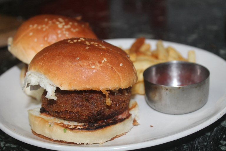 Indian Style Vegetable Burger Recipe Veg Cutlet Burger Recipe
