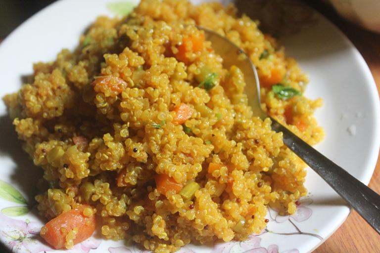 Quinoa Vegetable Upma Recipe