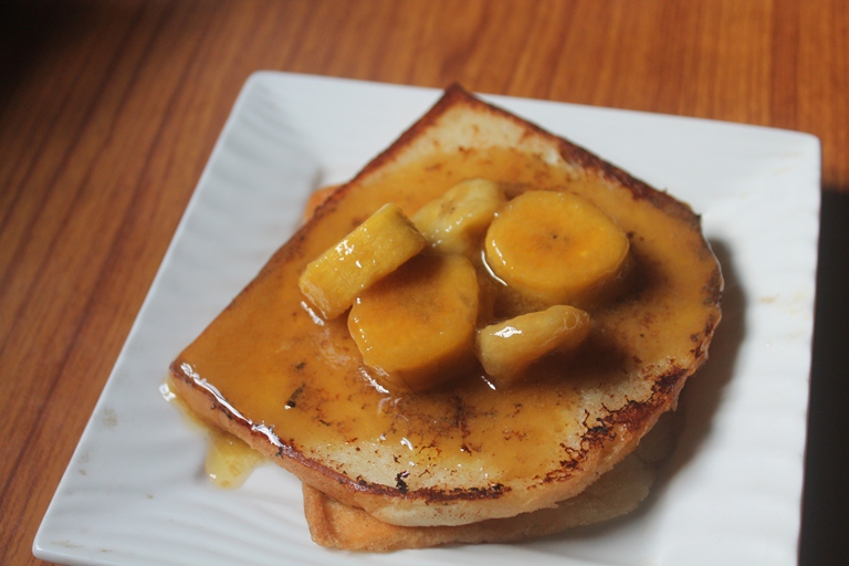 Bananas Foster French Toast Recipe – Eggless French Toast Recipe
