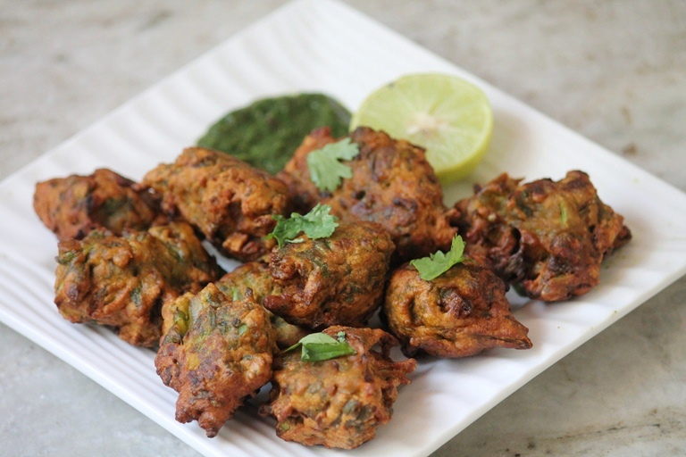 Spinach Coconut Milk Pakora Recipe
