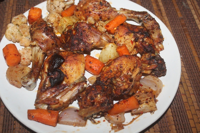 Oven Roasted Chicken With Vegetables Recipe Roast Chicken