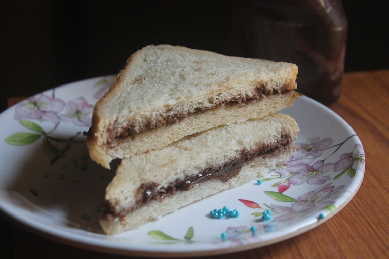 how to make a nutella sandwich step by step