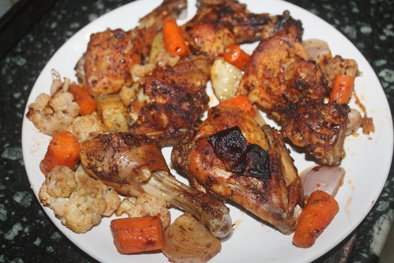Oven Roasted Chicken with Vegetables Recipe
