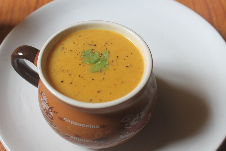 Pumpkin Soup Recipe – Low Calorie Poosanikai Soup Recipe
