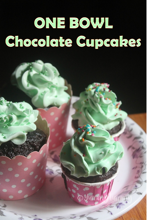 One Bowl Chocolate Cupcakes Recipe - Moist Chocolate Cupcakes