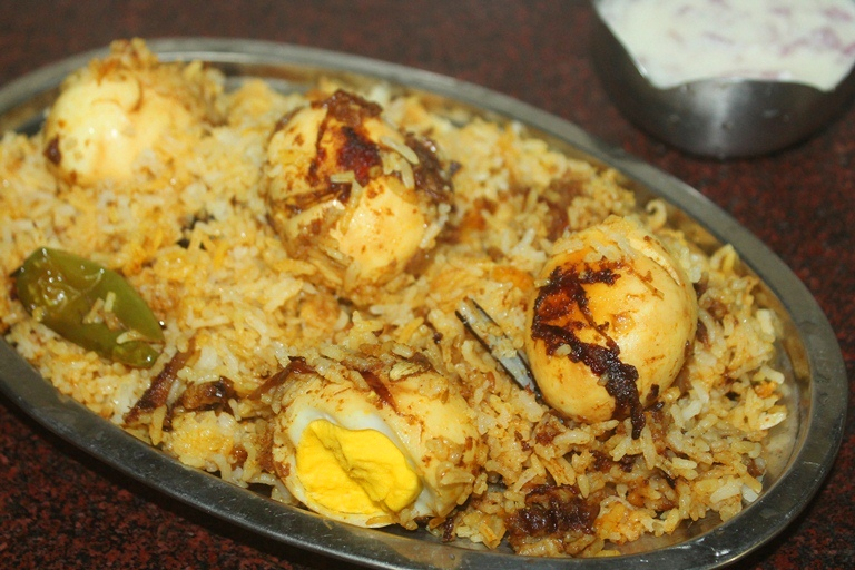 Easy Egg Dum Biryani Recipe