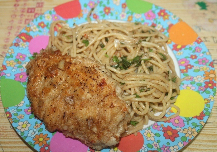 Chicken Scallopini Recipe – Seared Chicken with Lemon Butter Pasta