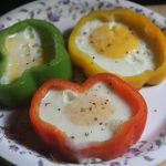 Fried Egg in a Pepper Ring – Summer Vacation with Kids