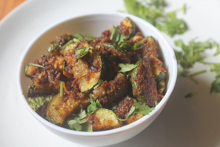 Zucchini Besan Sabzi Recipe – Zucchini Besan Stir Fry Recipe