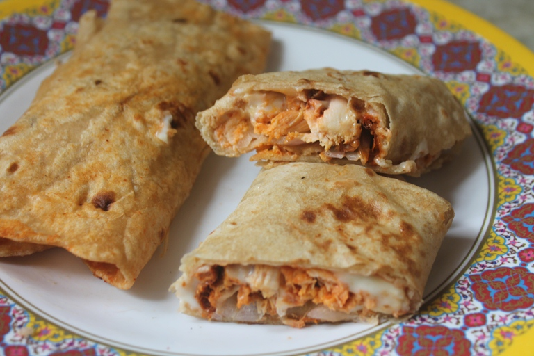 Cheesy Chicken Wrap Recipe – Recipes using Leftover Chicken