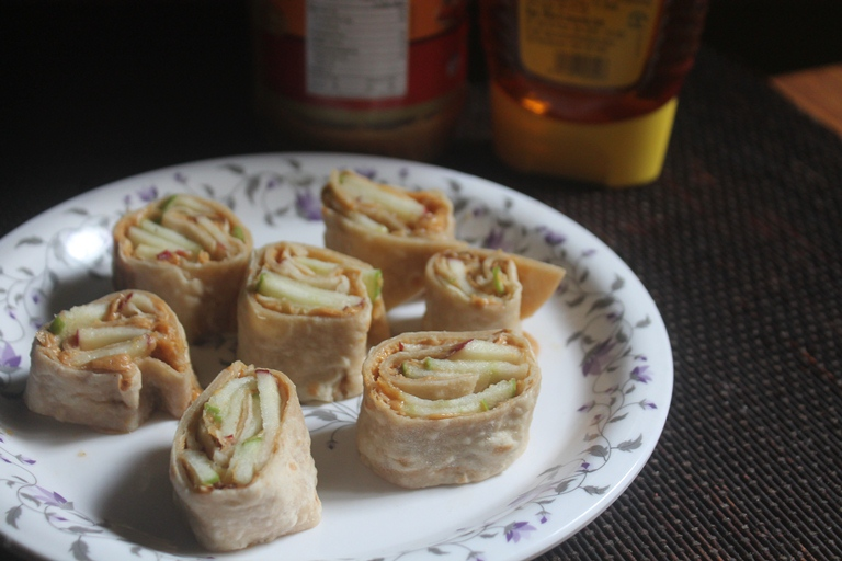 Apple & Peanut Butter Roll Ups Recipe