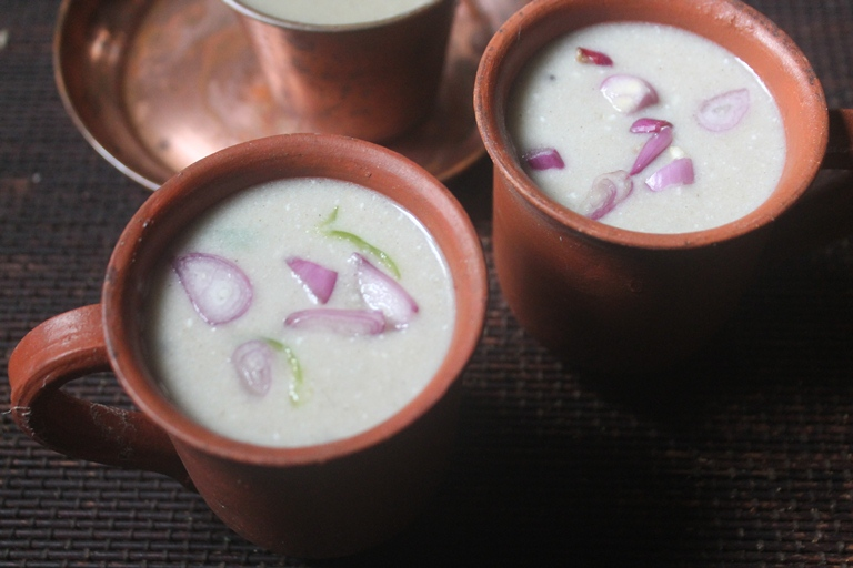 Instant Bajra Porridge Recipe – Kambu Koozh Recipe (Pearl millet – Salty